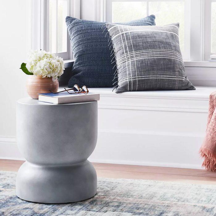 Palisades Hourglass Concrete Accent Table